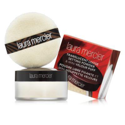 Laura Mercier Translucent Loose Setting Powder & Mini Velour Puff Travel Size