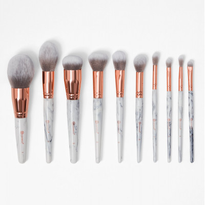 BH Cosmetics 10pc Marble Luxe Brush Set