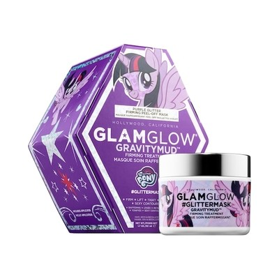 GLAMGLOW x MY LITTLE PONY® #GLITTERMASK GRAVITYMUD™ Firming Treatment (Purple Glitter)