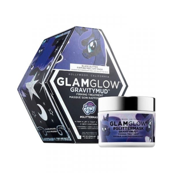 GLAMGLOW x MY LITTLE PONY® #GLITTERMASK GRAVITYMUD™ Firming Treatment (Black Glitter)