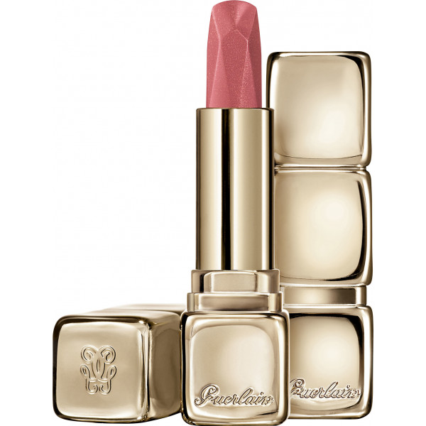 Guerlain KISSKISS Diamond Lipstick Satin Finish 544 Peachy Gem