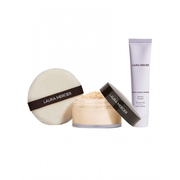 Laura Mercier Pure Canvas Primer - Blurring & Translucent Loose Setting Powder Set