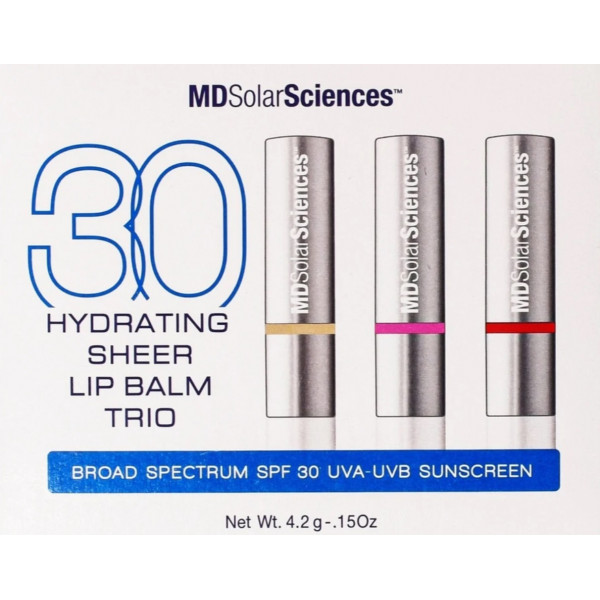MD Solar Science Hydrating Sheer Lip Balm Trio SPF 30