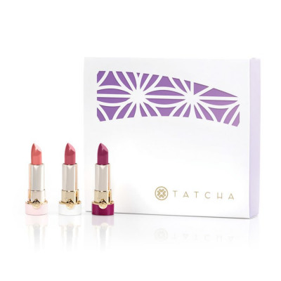 Tatcha Japanese Blossoms Mini Silk Lipstick Trio Limited Edt