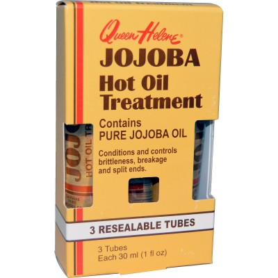 Jojoba Hot Oil Treatment,3 Resealable Tubes