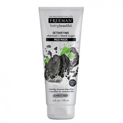 FREEMAN Detoxifying Charcoal & Black Sugar Mud Mask