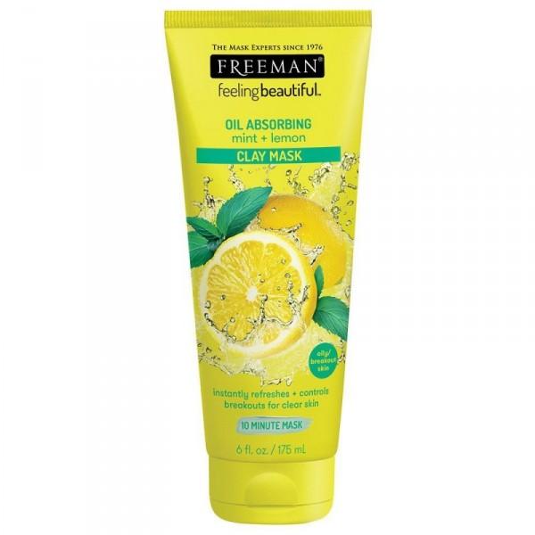 FREEMAN Oil Absorbing, Mint & Lemon Clay Mask 6 fl oz