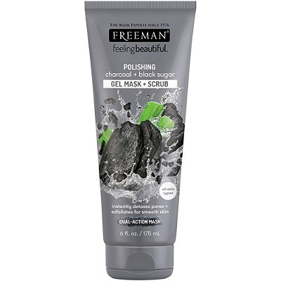FREEMAN Polishing Charchoal + Black Sugar Gel Mask + Scrub